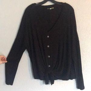 Gianni Bini Size: XL black front tie sweater